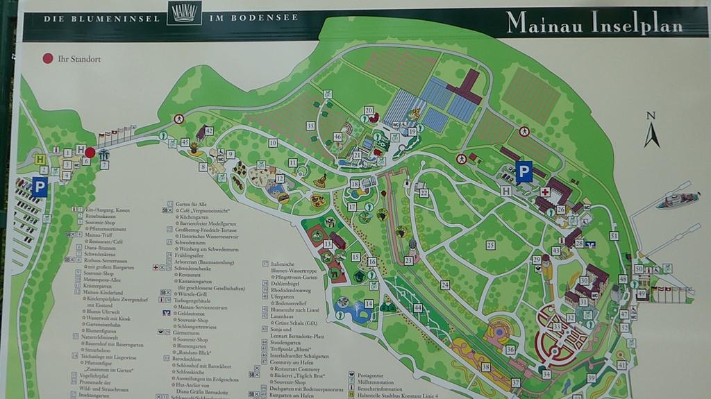 Insel Mainau Karte.Wanderspatz Insel Mainau